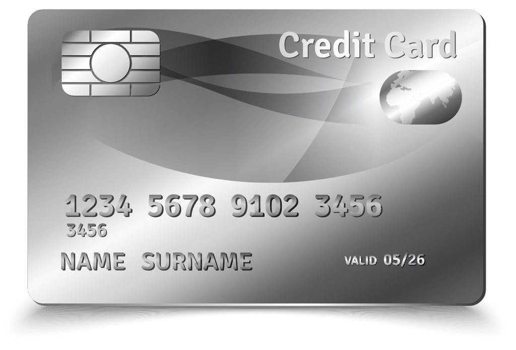 Credit card illustration of expiry date